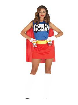 disfraz de superheroe de la cerveza mujer
