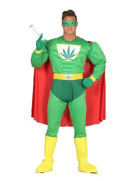 disfraz de superheroe marihuana para adulto
