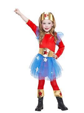disfraz de superheroina tutu niña