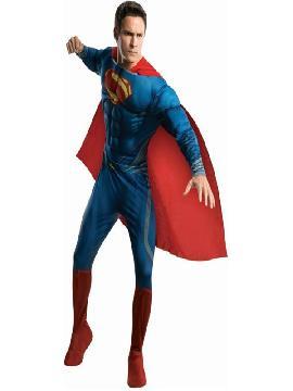 disfraz de superman hombre de acero musculoso