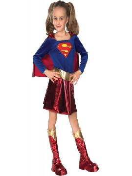 disfraz de superman niña deluxe