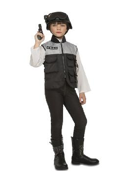 disfraz de swat con accesorios para niño