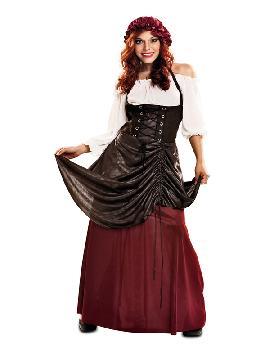 disfraz de tabernera del medieval mujer