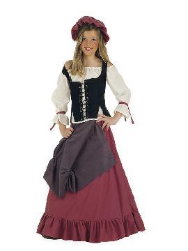 disfraz de tabernera medieval deluxe niña