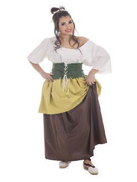 disfraz de tendera medieval para mujer