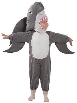 disfraz de tiburón bebe. Transformaras al más pequeño de la familia en el famoso Tiburón de la película de Disney Pixar. Estará muy cómodo y calentito en Fiestas Temáticas o Carnaval. Este disfraz es ideal para tus fiestas temáticas de disfraces de animales para infantiles