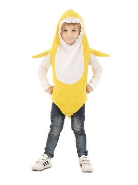 disfraz de tiburon amarillo daddy shark niño