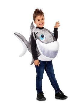 disfraz de tiburon gris para niño