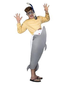 disfraz de tiburon hambriento para adultos