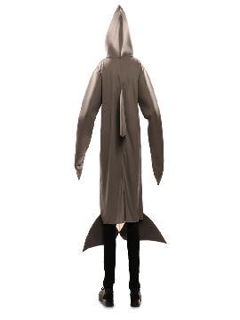 disfraz de tiburon gris para hombre