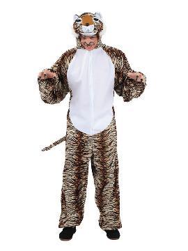 Este disfraz de tigre para adulto de hombre es ideal para tus fiestas de animales con grupo de amigos. Es uno de los disfraces originales más calentitos para tus carnavales, fiestas temáticas, halloween, despedidas de solteros, etc.