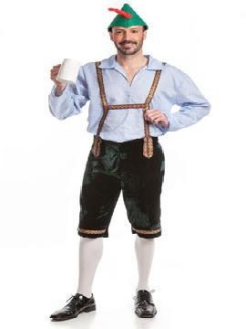 Disfraz de tiroles hombre. Te convertirá en uno de los intrépidos escaladores típicos de Tiroles, con un toque atrevido.Este disfraz es ideal para tus fiestas temáticas de disfraces Del mundo por países y regionales para hombre adultos.