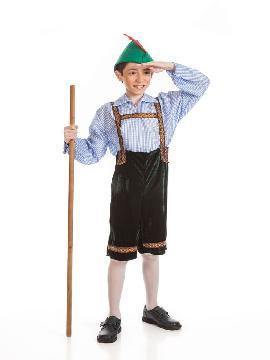 Disfraz de tiroles niño. Es ideal para vestirte como el típico disfraz de tiroles o campesino de los Países Bajos. Es ideal en fiestas temáticas, festivales escolares, oktoberfest. Este disfraz es ideal para tus fiestas temáticas de disfraces del mundo, países y regionales niños