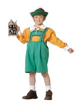 disfraz de tiroles regional para niño. Es ideal para vestirte como el típico disfraz de tiroles o campesino de los Países Bajos. Es ideal en fiestas temáticas, festivales escolares, oktoberfest y carnaval nacional.Este disfraz es ideal para tus fiestas temáticas de disfraces del mundo, paises y regionales niños infantiles.