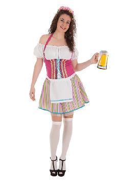 disfraz de tirolesa a rayas para mujer