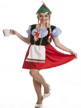 disfraz de tirolesa mujer. Te transformará en la protagonista de la Fiestas de la Cerveza. Baja de la región alpina más famosa de Europa para disfrutar bailando en las Carnaval, Fiestas Temáticas Fiestas del Oktoberfest. Este disfraz es ideal para tus fiestas temáticas de disfraces del mundo por países y regionales.