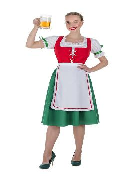 disfraz de tirolesa oktoberfest rojo mujer