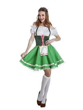 disfraz de tirolesa verde para mujer