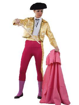 disfraz de torera deluxe mujer adulto. El realismo de este traje de luces te hará brillar en Fiestas de Disfraces, Carnavales o en Celebraciones como las Despedidas de Soltera.Este disfraz es ideal para tus fiestas temáticas de disfraces de toreros y toros para adulto.
