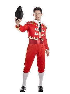 disfraz de torero rojo para hombre adulto. El realismo de este traje de luces te hará brillar en Fiestas de Disfraces, Carnavales o en Celebraciones como las Despedidas de Soltero.Este disfraz es ideal para tus fiestas temáticas de disfraces de toreros y toros.