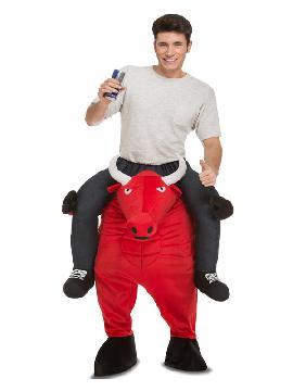 disfraz de toro rojo a hombros para adulto