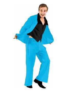 disfraz de traje divertido azul para hombre