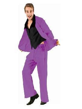 disfraz de traje divertido morado para hombre