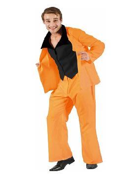 disfraz de traje divertido naranja para hombre