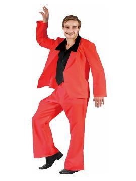 disfraz de traje divertido rojo para hombre