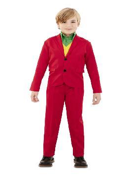 disfraz de traje rojo para niño