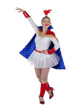 disfraz de trapecista de circo mujer