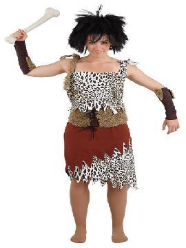 Disfraz de troglodita mujer. Te sentirás como una auténtica mujer de las cavernas. Ideal para carnaval y fiestas temáticas de disfraces. Este disfraz es ideal para tus fiestas temáticas de disfraces de cavernicolas y trogloditas para mujer adultos.