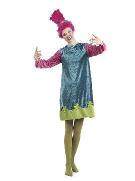 disfraz de troll para mujer. Con esta traje Troll serás la Princesa Poppy protagonista de la película de animación Trolls. Divertida y amigable esta pequeña muñeca Troll se lo pasará de miedo en fiestas temáticas, halloween y carnaval. Este disfraz es ideal para tus fiestas temáticas de disfraces de personajes de television adulto.