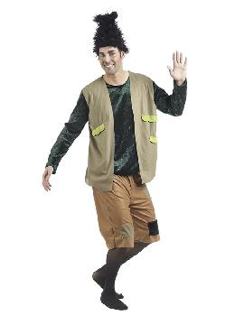 disfraz de troll travieso para hombre serás Branch, el protagonista de la película de animación Trolls. Introvertido y supercauto, luchará por la supervivencia del poblado Troll ante la invasión de los Bergens en fiestas temáticas, halloween y carnaval. Este disfraz es ideal para tus fiestas temáticas de disfraces de personajes de television adulto.