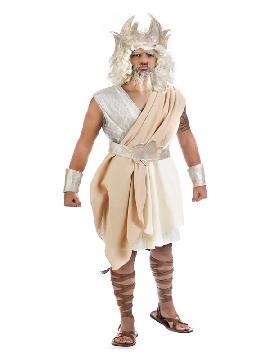 disfraz de ulises para hombre. Ulises fue uno de los héroes legendarios de la mitología griega que aparece como personaje de la Ilíada, es el protagonista y da nombre a la Odisea. Este disfraz es ideal para tus fiestas temáticas de disfraces romanos, griegos y egipcios adulto. fabricación nacional