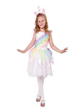 disfraz de unicornio arco iris niña