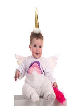 disfraz de unicornio con alas para bebe