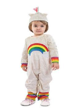 disfraz de unicornio con arcoiris para bebe