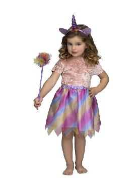 disfraz de unicornio morado para niña
