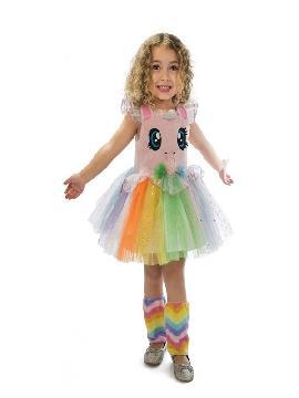 disfraz de unicornio rosa con ojitos para niña