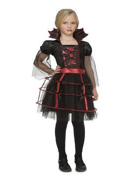 disfraz de vampiresa gotica miriñaque para niña