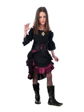 disfraz de vampiresa gotica niña