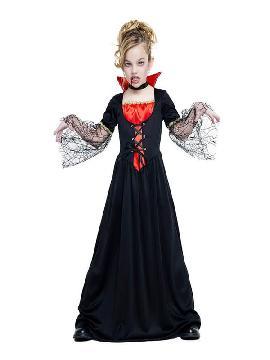 disfraz de vampiresa telarañas para niña