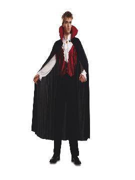 Disfraz de Vampiro gótico para hombre. Lo pasarán de muerte asustando a los pequeños en la noche de Terror y halloween. Este disfraz es ideal para tus fiestas temáticas de miedo y vampiros para adultos.