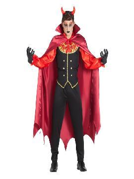 disfraz de vampiro llamas con capa hombre