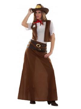 disfraz de vaquera con falda mujer