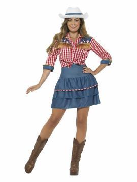 disfraz de vaquera cowboy rodeo para mujer