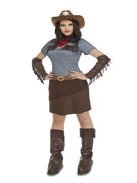 disfraz de vaquera cowgirl mujer