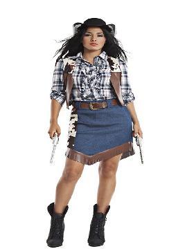disfraz de vaquera cuadros para mujer