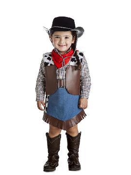 disfraz de vaquera cuadros para niña